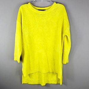 Forever 21 High Low Lemon Yellow Sweater